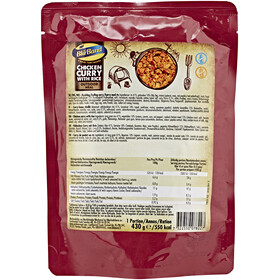 Bla Band Chicken Curry with Rice Outdoor Nutrition red